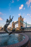 Tower Bridge in London in the Early Morning Stock Image