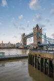 Tower Bridge in London in the Early Morning Stock Images
