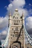 Tower Bridge, London, end on. Tower Bridge, London, UK, end on stock image