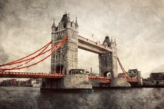 Tower Bridge in London, England, the UK. Stock Photography