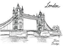Tower Bridge, London, England, UK. Royalty Free Stock Photography