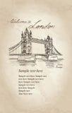 Tower Bridge, London, England, UK. Old-fashioned background Stock Image