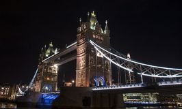 Tower Bridge of London in the evening Royalty Free Stock Photo