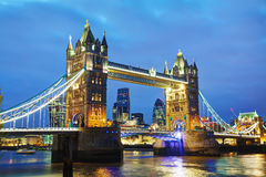 Tower bridge in London, Great Britain Royalty Free Stock Images