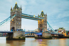 Tower bridge in London, Great Britain Stock Photos
