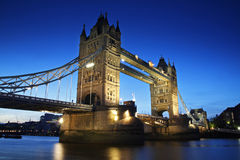 Tower Bridge - London landmark, England. Tower Bridge on a clear sunset Stock Image