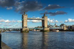 Tower Bridge in London in the late afternoon, England Stock Photography
