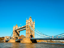 Tower Bridge in London in the late afternoon Stock Photos