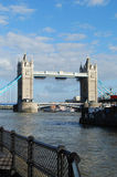 Tower Bridge London. Tower Bridge looking West from South Bank of Thames River Royalty Free Stock Image