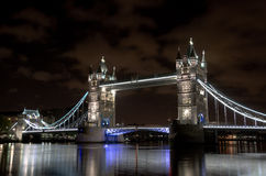 Tower Bridge in London at night Stock Photography