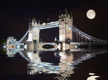Tower Bridge, London at night Stock Photos