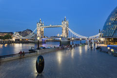 Tower Bridge in London at night, editorial Stock Photography