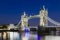 Tower Bridge in London at night Royalty Free Stock Image