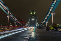 Tower Bridge London at Night royalty free stock image