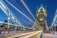 Tower Bridge in London at night Royalty Free Stock Image
