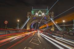 Tower Bridge in London at night Royalty Free Stock Photo