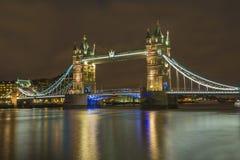 Tower Bridge in London at night Stock Photos