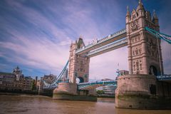 Tower Bridge in London. The old and famous London Tower Bridge over the river Thames, London, England Royalty Free Stock Photo