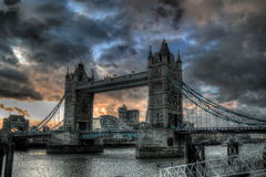 Tower Bridge in London. Stock Photos