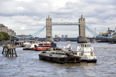 Tower Bridge in London over Thames River Royalty Free Stock Photography