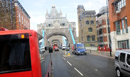 Tower bridge in London rain Royalty Free Stock Images