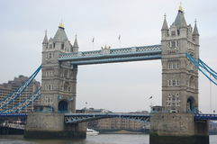 Tower bridge London. River building Stock Photography