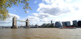 Tower Bridge London on the river thames. Tower Bridge The River Thames London stock photo
