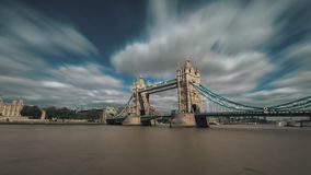 Tower Bridge of London and The River Thames stock footage