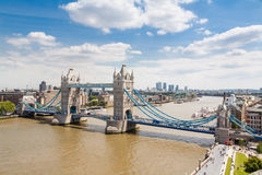 Tower Bridge and London Skyline Stock Images