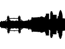 Free Tower Bridge London Skyline Reflected Royalty Free Stock Images - 11398149
