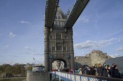 Tower Bridge London spring time Stock Photography