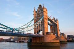 Tower Bridge London at sundown Royalty Free Stock Images