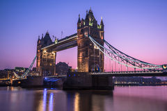 Tower Bridge in London at sunrise Stock Image