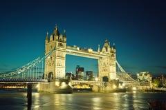 Tower bridge in London. Tower bridge at sunset, London Stock Photo