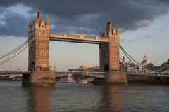 Tower Bridge of London during sunset Stock Images