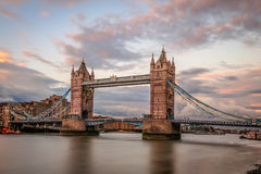 Tower bridge, London, at sunset. Historic Tower bridge, London, at sunset Stock Images