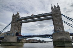 Tower Bridge in London. At Thames river Stock Photography