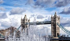 Tower Bridge in London. Tower Bridge (built 1886–1894) is a combined bascule and suspension Royalty Free Stock Photography