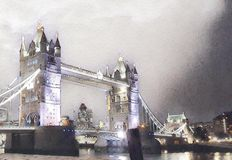 Tower bridge in london royalty free illustration
