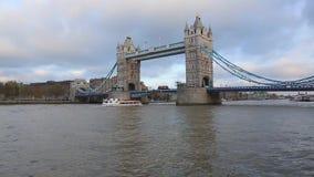 Tower Bridge in London stock footage