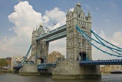 Tower Bridge in London, UK. Tower Bridge with cloudy sky background. London, UK Stock Photo