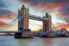 Tower Bridge in London, UK Stock Photo