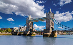 Tower Bridge in London, UK. The bridge is one of the most famous landmarks in Great Britain, England Stock Images