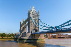 Tower Bridge in London, UK. The bridge is one of the most famous landmarks in Great Britain, England Royalty Free Stock Images