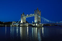 Tower Bridge, London UK, at dusk Royalty Free Stock Image