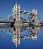 Tower Bridge in  London, UK. Famous Tower Bridge with skyscrapers in London, UK Royalty Free Stock Photo