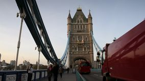 Tower bridge in London, UK stock video footage
