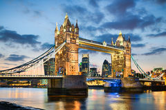Tower Bridge, London. Tower Bridge in London, UK at night royalty free stock images