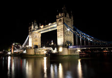 Tower Bridge, London, UK. Tower Bridge at night, London, UK Stock Photos