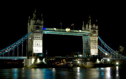 Tower Bridge, London, UK at night Stock Images